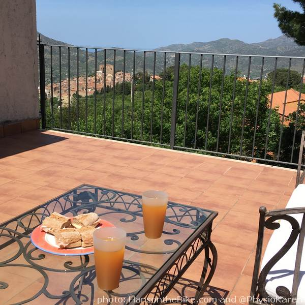 The view from our balcony in Castelbuono.