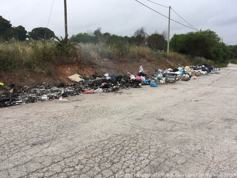 Burning garbage in Sicily