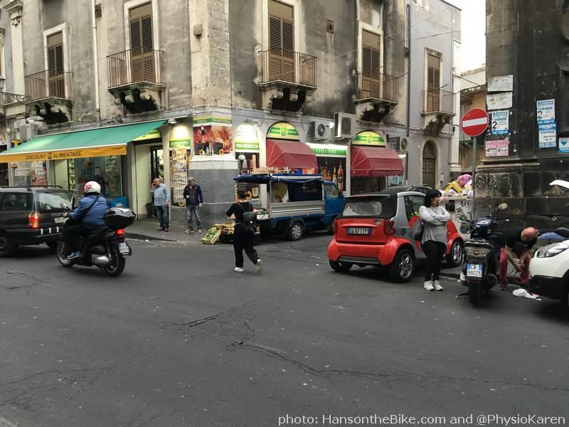 Street life in Catania