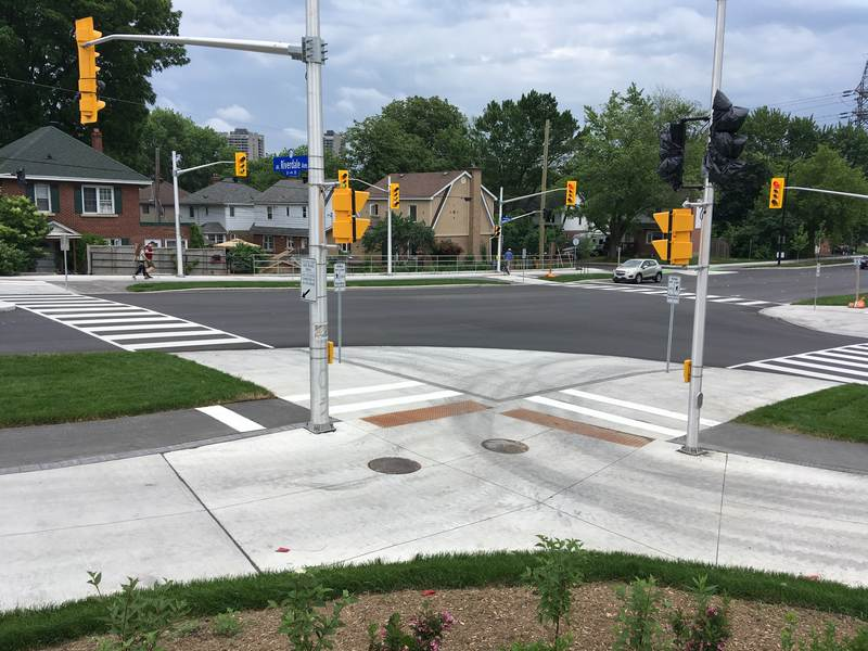 The intersection at the south end at Riverdale is a major improvement.