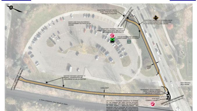 The proposed extension and paving of the Trillium pathway