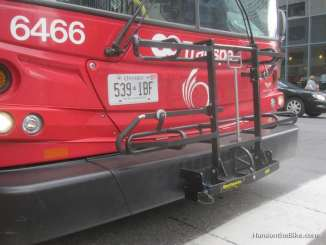 Ottawa provides Rack 'n Roll to bring your bikes on the bus in spring, summer and fall.