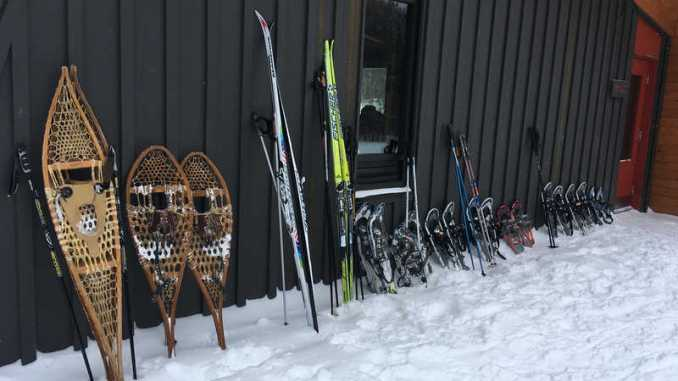 Snowshoes at Renaud hut