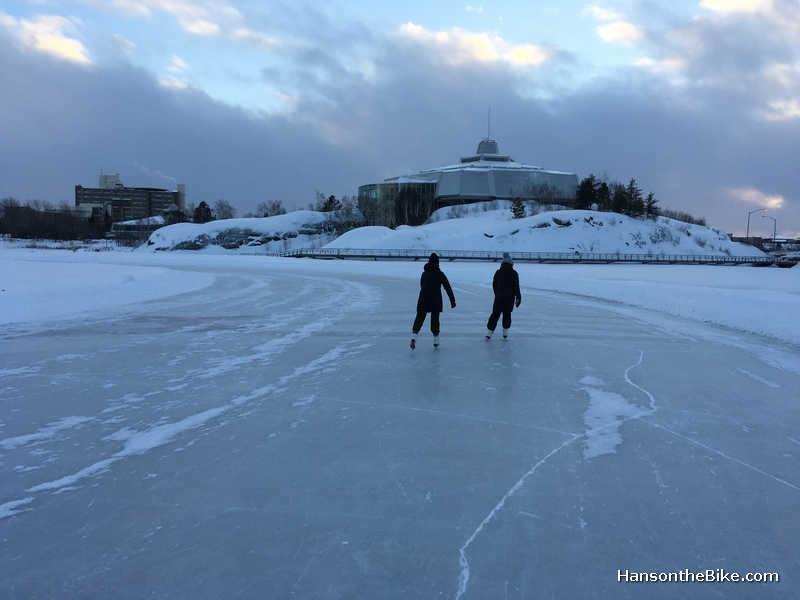 Skating Ramsey Lake at Science North