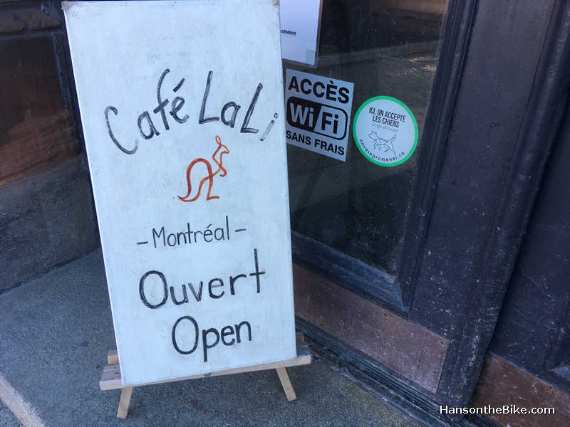 sandwich board for Cafe Lali