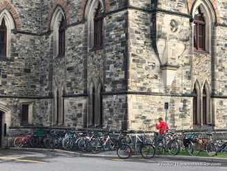 Bicycles on Parliament Hill in Ottawa during the National Bike Day in 2017