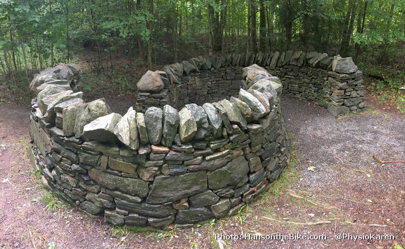 C to C: Dry stone structure with locally quarried granite