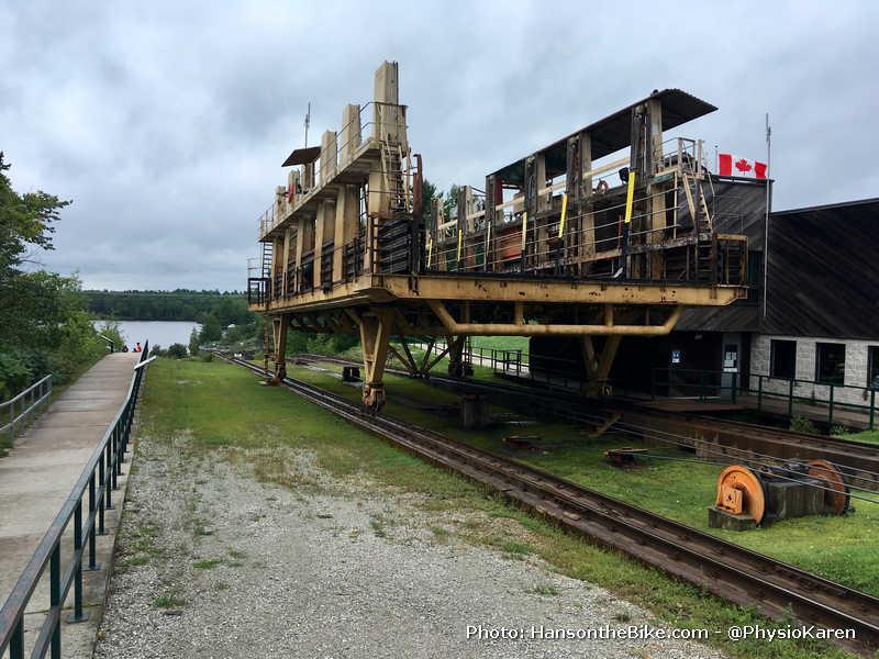 Big Chute Marine Railway at the top