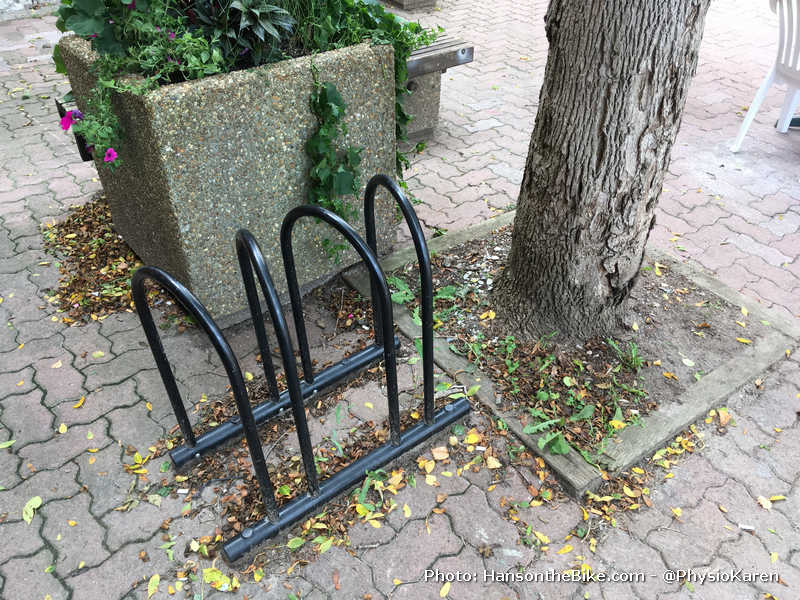 wrongly placed bike rack