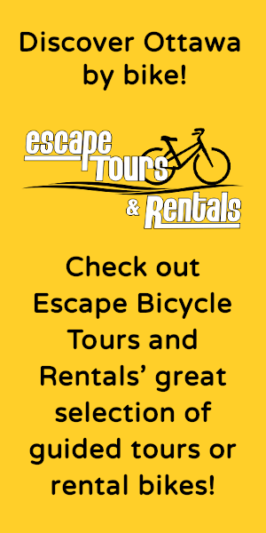 add for cycling rentals Escape Bicycle Tours