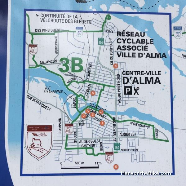 Map of Alma Quebec