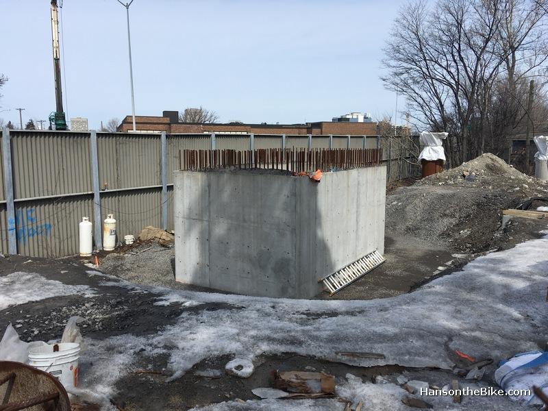 foundation work on Holzman bridge