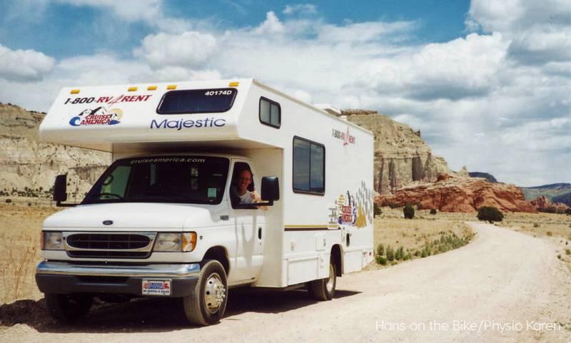 RV in Arizona, car on wheels