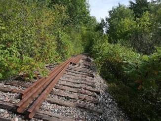 Abandoned railway track Voie Verte Chelsea