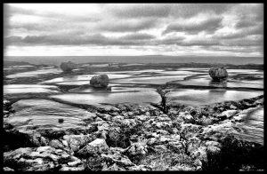 The Burren, view towards Aran islands