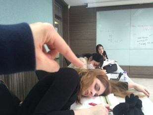 Asleep during class... oops!