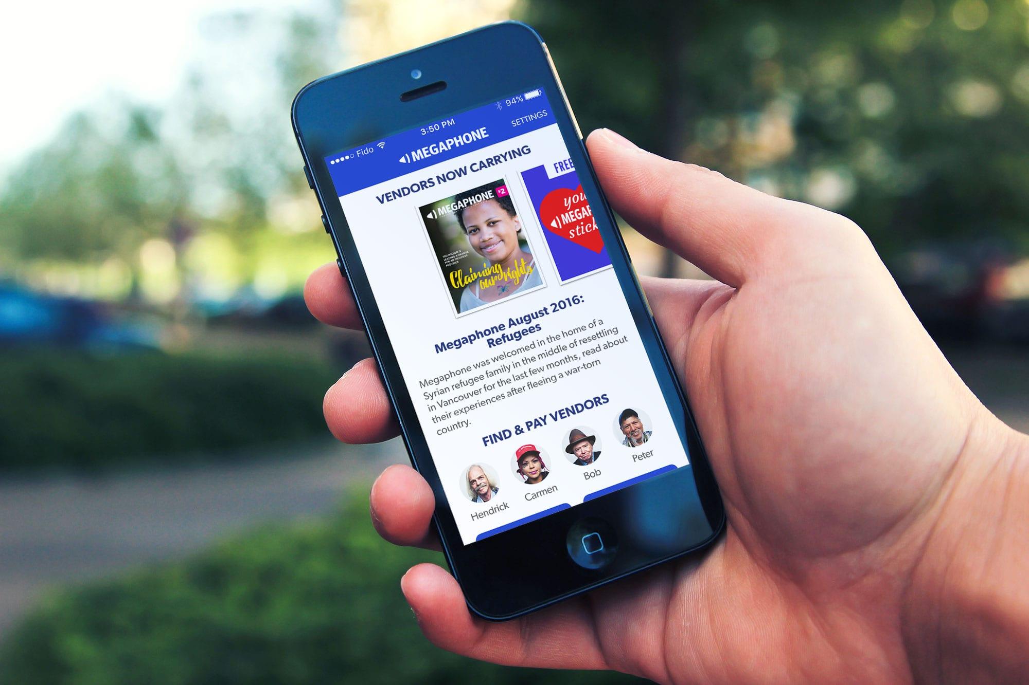 Megaphone-Magazine—Vendor-App