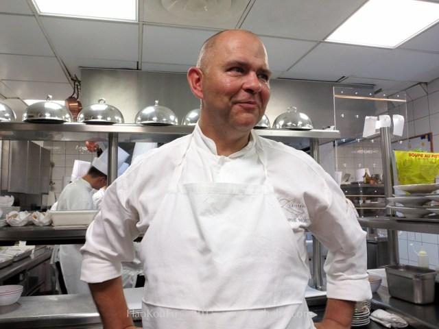 Christophe Moret 原米其林二星餐廳Lasserre 主廚,今年一月轉任巴黎香格里拉飯店總主廚