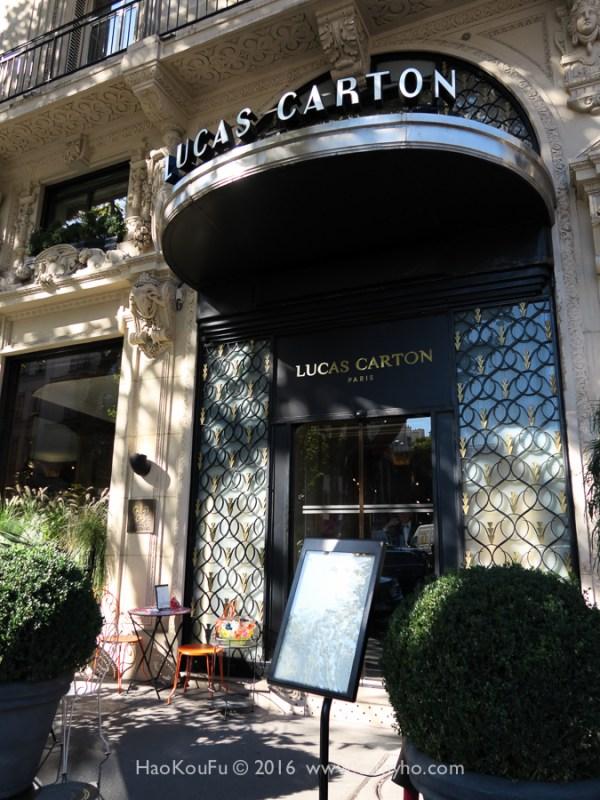 位於巴黎瑪德蓮廣場的盧卡斯・卡爾通(Lucas Carton)餐廳