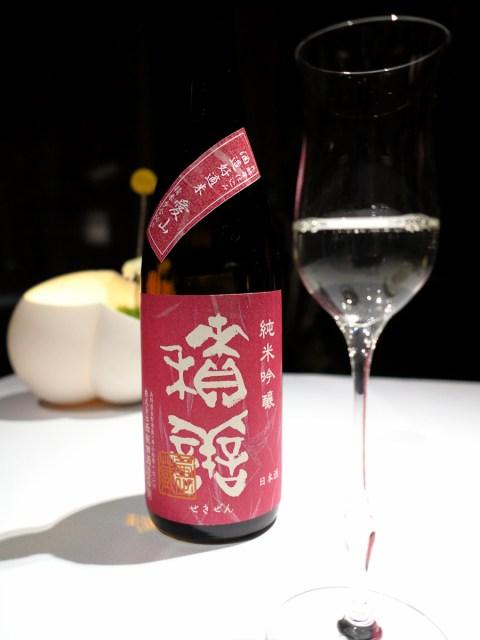 用來搭配炸小香魚的西飯田酒造店 - 積善 (せきぜん) 純米吟醸