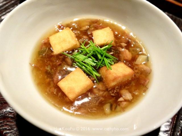 「揚物」- 油炸豆腐佐鱉肉醬汁