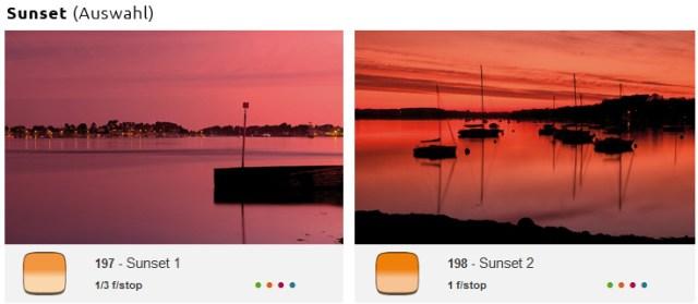 Cokin-Sunset-Farbfilter