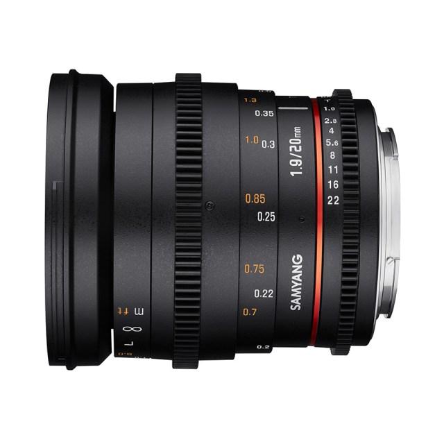 SAMYANG 20mm F1.8 ED AS UMC Fotoobjektiv und SAMYANG 20mm T1.9 ED AS UMC Videoobjektiv