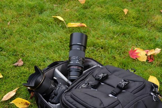 Platz für Kameragehäuse und Objektive, Mittelformat-Systeme, längere Teleobjektive und viel Zubehör