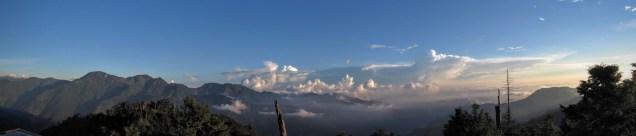 Anmashan Mountains (view from top of Dashueshan)