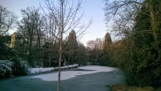 moat frozen over