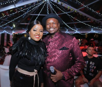 Event hosts Amina Abdi and Maqbul Mohammed during the Coke Studio Africa 2019 Viewer Experience Party.