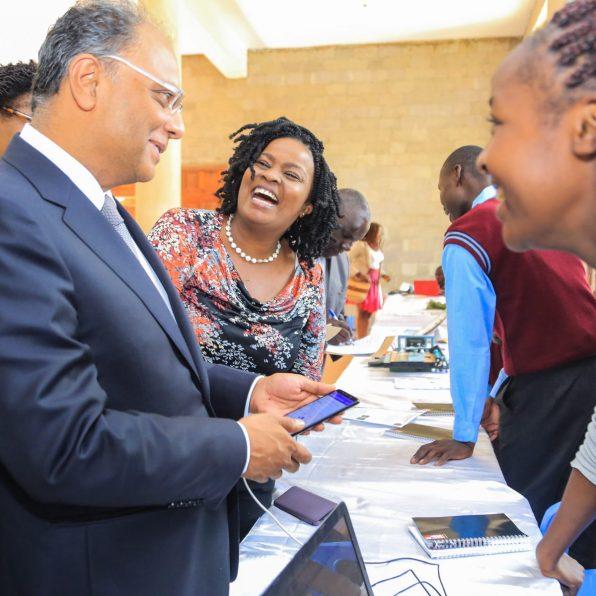 YSK Chairman & PS. Kevit Desai and Safaricom Youth Segments Lead Angela Githuthu