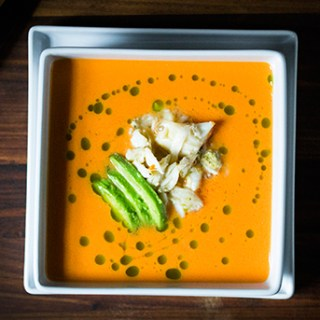 Tomato Soup with Lump Crabmeat