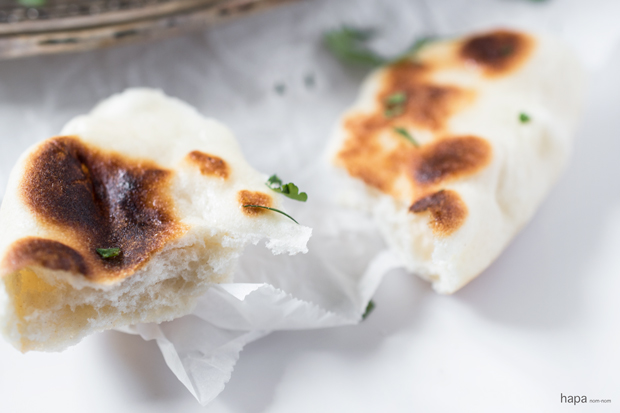 Naan, an Indian leavened flatbread, is soft, pillowy, and perfect for tearing and dipping!