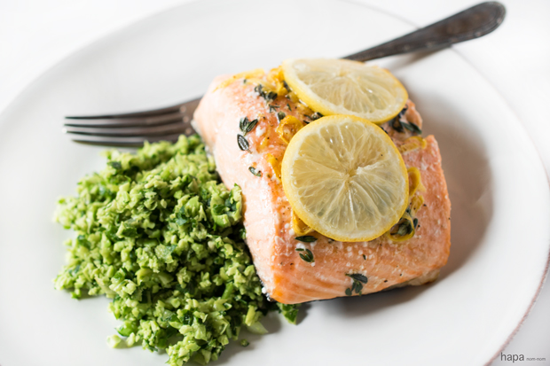 that's healthy and delicious? Salmon en Papillote with Edamame Mash ...