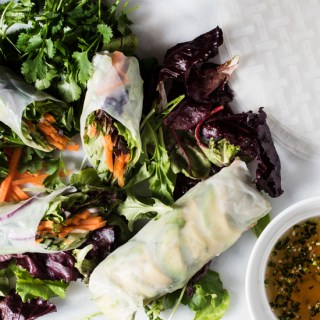 Summer Rolls with Chile-Lime Dipping Sauce