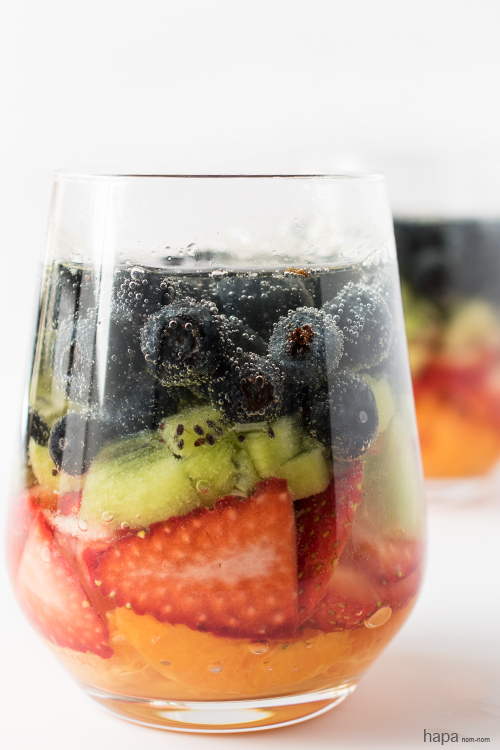 With all of this fruit, you'll feel good about brunch with these Rainbow Spritzers.