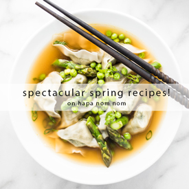 Springtime Recipes on Hapa Nom Nom