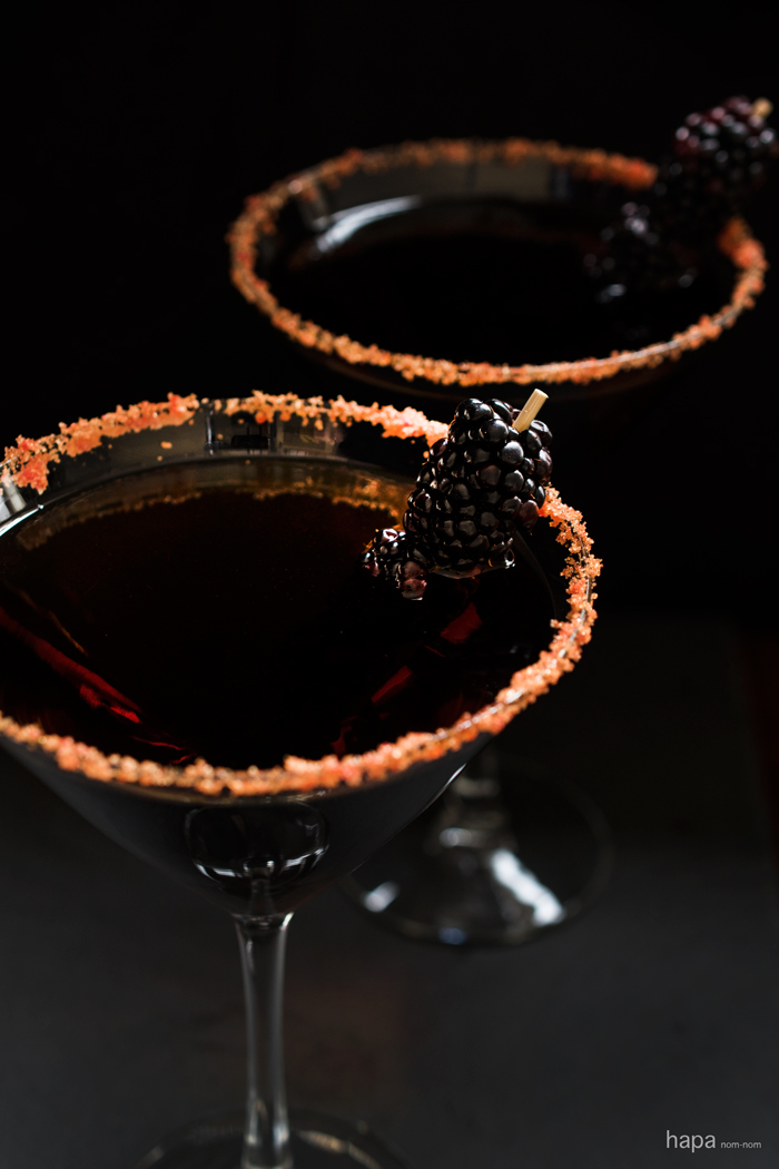 black devil martini perfect for your halloween party