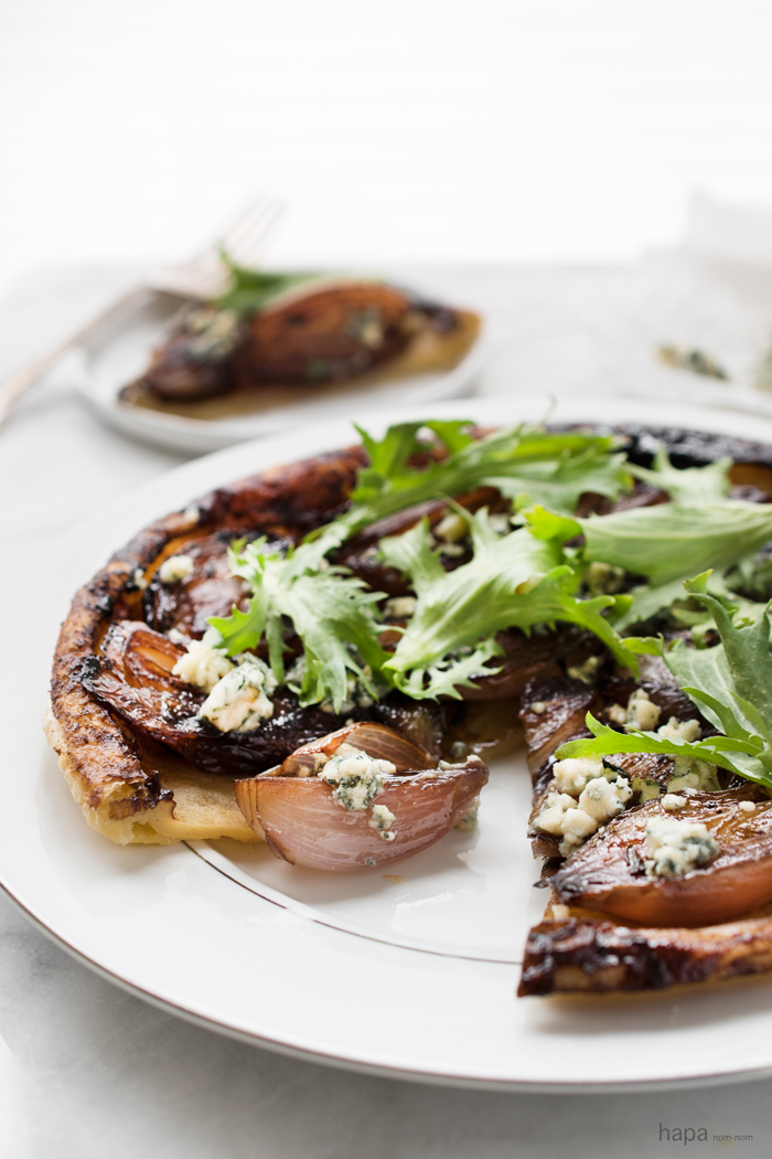 Flaky Puff Pastry and Blue Cheese - Shallot Tarte Tatin