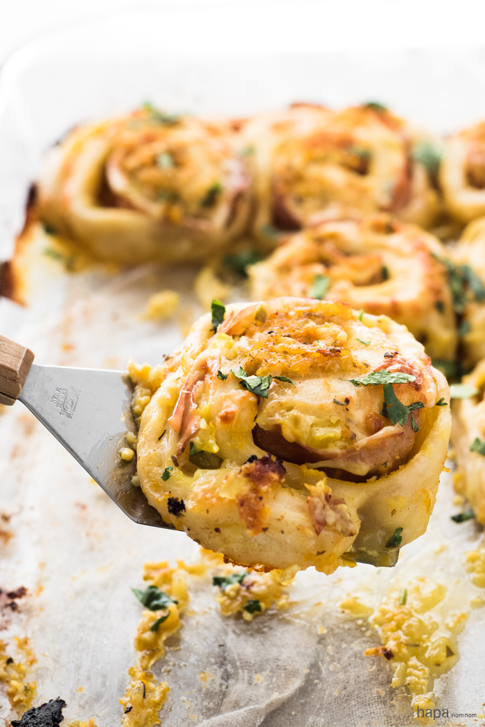 Cuban Sandwich Roll Up with Mojo Sauce Glaze - Perfect for Parties!