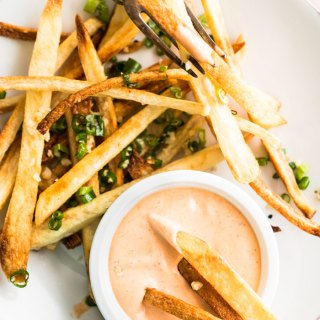 Double Garlic and Scallion Baked Fries
