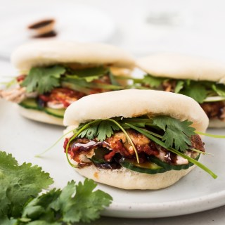 Leftover Turkey Bao (Steamed Buns)