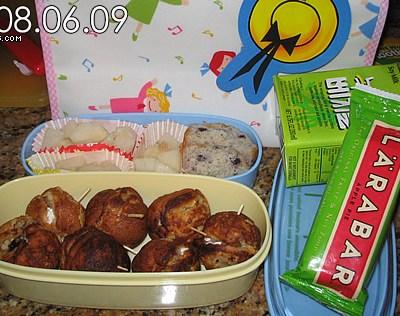 Takoyaki Pancakes and Nashi Bento