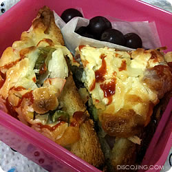 Pizza Bread, Grapes, and Tapioca