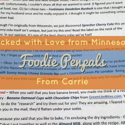 May Foodie Penpals