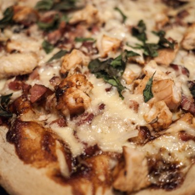 Grilled Barbeque Chicken Pizza