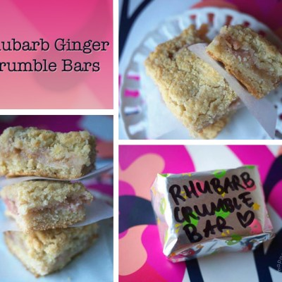 Rhubarb Ginger Crumble Bars