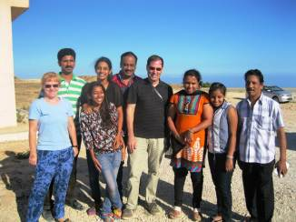During a break we posed with some Indian tourists on their way to Al-Shaat