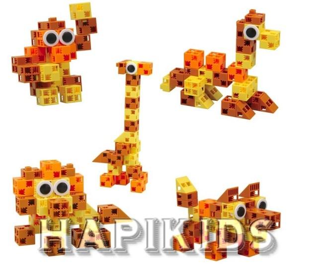 Игрушки животных Click-A-Brick